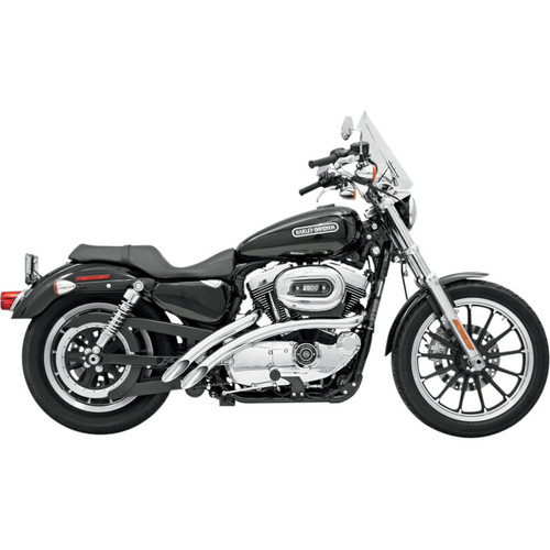 Bassani Radial Sweepers Exhaust for 1986-2003 Harley Sportster - Chrome
