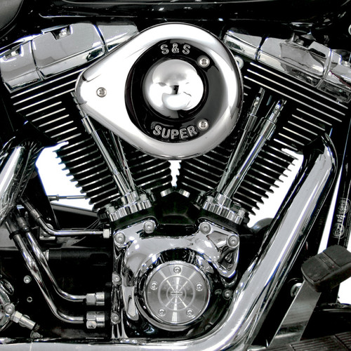 S&S Teardrop Air Cleaner Kit for 1999-2006 Harley Twin Cam with S&S Carb  - Chrome