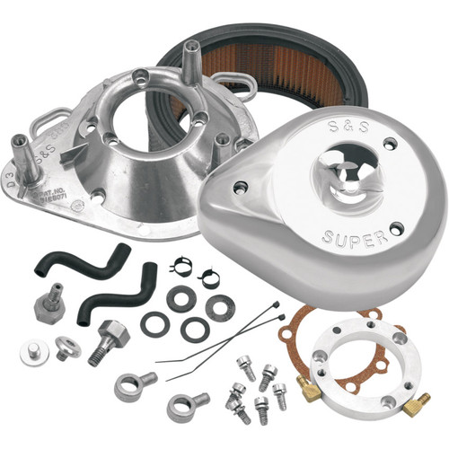 S&S Teardrop Air Cleaner Kit for 1993-2006 Harley Big Twin - Chrome