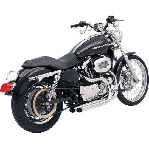 Bassani Pro-Street Exhaust for 2004-2013 Harley Sportster with Forwards - Chrome
