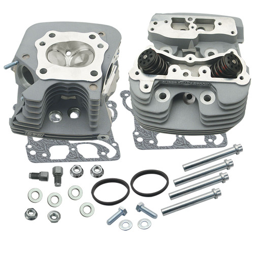 S&S Super Stock 89cc Cylinder Heads for 2006-2017 Harley Twin Cam - Silver