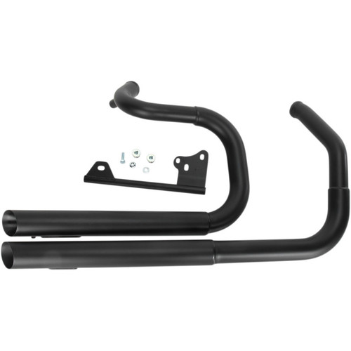 Bassani Pro-Street Exhaust for 2004-2013 Harley Sportster with Forwards - Black