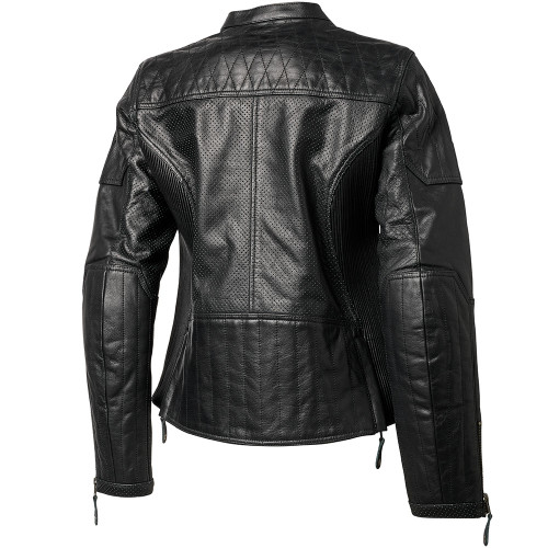 Roland Sands Women's Trinity Perforated Leather Jacket - Black