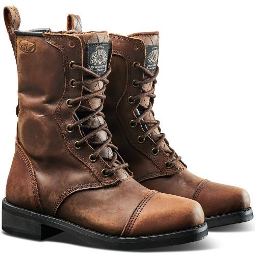 Roland Sands Women's Cajon Boots - Tobacco Brown