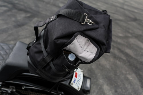 Burly Voyager Sissy Bar Bag - Black