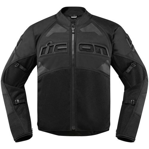 Icon Men's Contra 2 Jacket - Stealth Black
