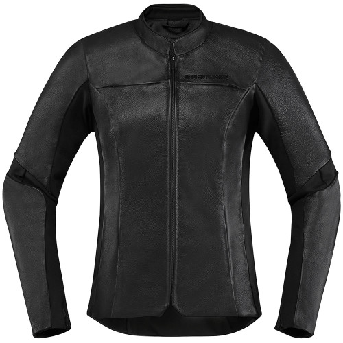 Icon Overlord Women's Leather Jacket - Black