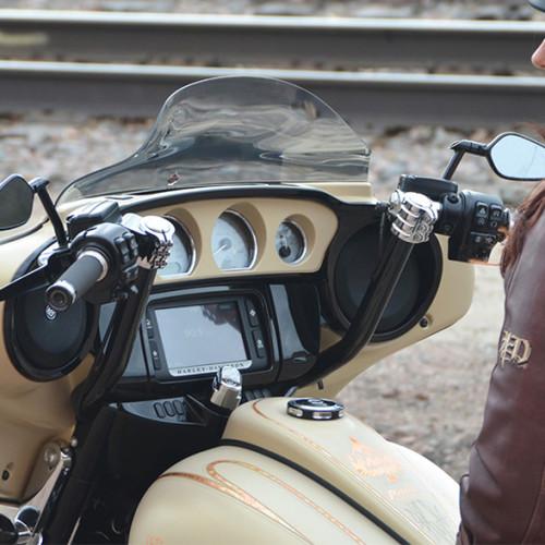 """Klock Werks 14"""" Klip Hanger Handlebars for 2008-2019 Harley Touring - Black"""
