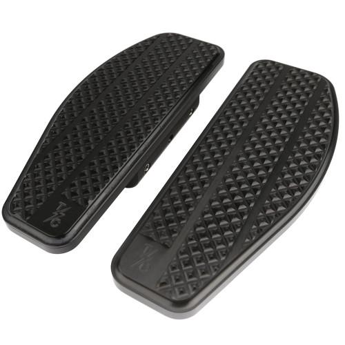 Thrashin Supply Bagger Passenger Floorboards for Harley - Black