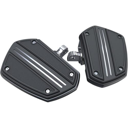 Ciro Twin Rail Mini Floor Boards Foot Pegs for Harley - Black