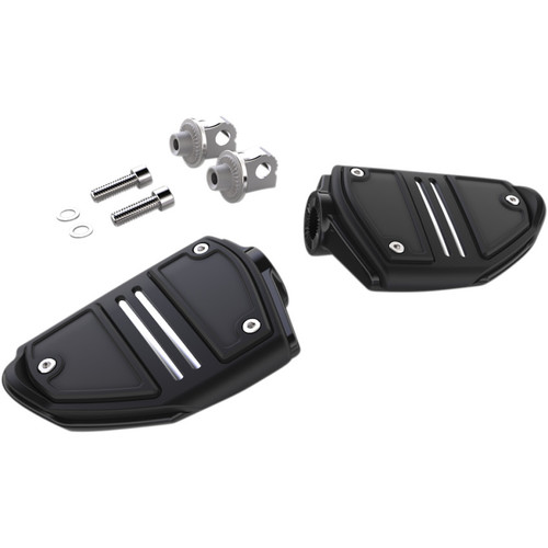 Ciro Twin Rail Foot Pegs for Harley - Black