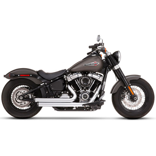 Rinehart 2-into-2 Exhaust for 2018-Up Harley Softail - Chrome/Black