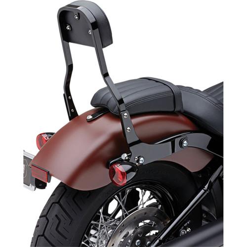 "Cobra 14"" Detachable Backrest Sissy Bar Kit for 2006-2017 Harley Dyna - Black"
