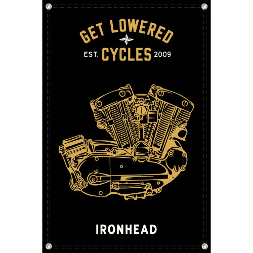 Get Lowered Cycles Harley Ironhead Shop Banner