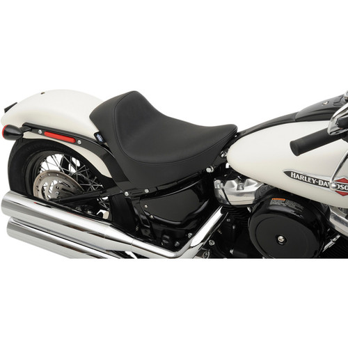 Drag Specialties EZ-On Solo Seat for 2018-2019 Harley Softail* - Smooth Solar Leather