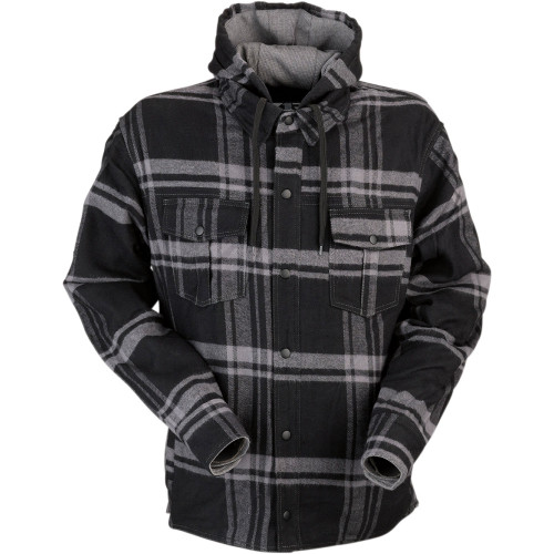 Z1R Timber Flannel Hooded Shirt - Black/Gray