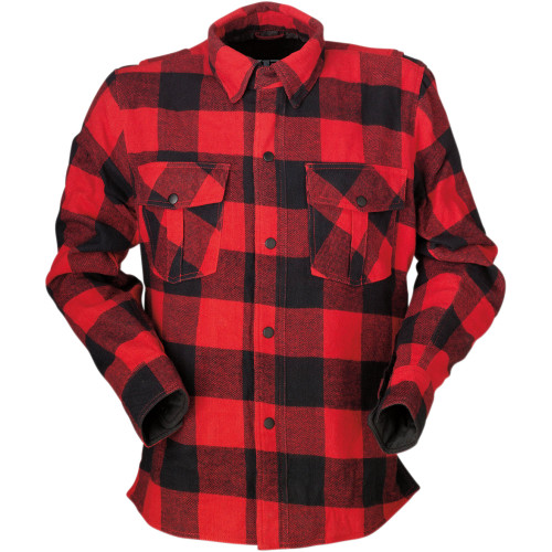 Z1R Duke Flannel Shirt - Red/Black