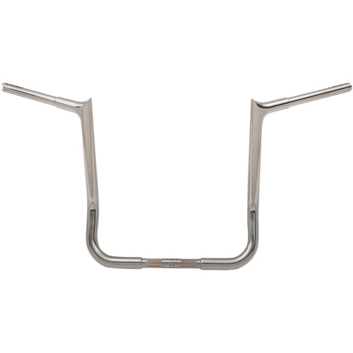 """Fat Baggers 1-1/4"""" EZ Install Pointed Top 16"""" Handlebars for 1986-2019 Harley Touring - Chrome"""