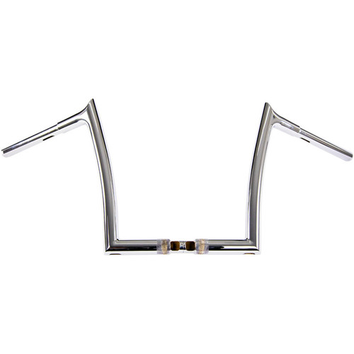 """Fat Baggers 1-1/4"""" EZ Install Pointed Top 12"""" Handlebars for 2015-2019 Harley Road Glide - Chrome"""