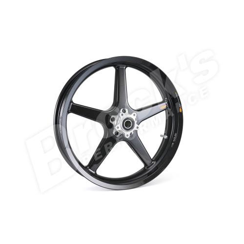 "BST 21"" x 3.5"" Black Star Carbon Fiber Front  Wheel for 2018-2019 Harley Fat Bob"