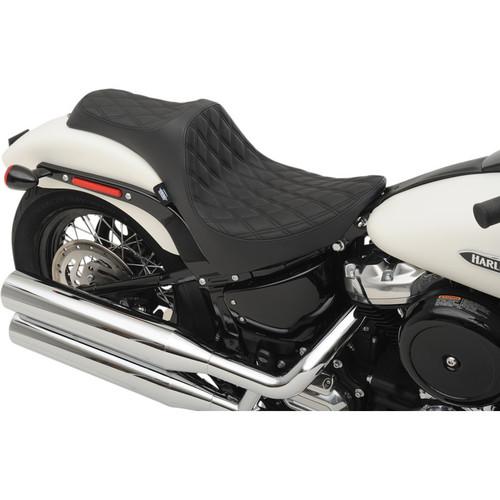Drag Specialties Predator III Seat for 2018-2019 Harley Softail* - Double Diamond Black