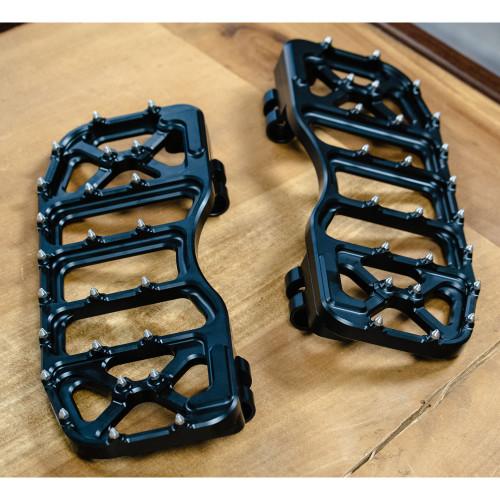Flo Motorsports V5 Bagger Floor Boards for Harley Touring - Black