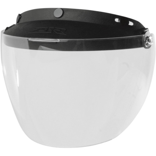 Z1R 3-Snap Flip Up Face Shield - Clear