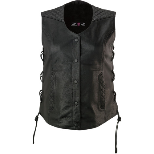 Z1R Women's Gaucha Leather Vest