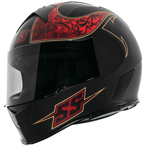 Speed and Strength SS900 Scrolls Helmet - Black/Red