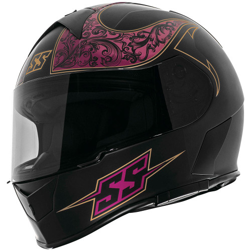 Speed and Strength SS900 Scrolls Helmet - Black/Violet
