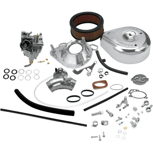 S&S Super E Carburetor Kit with Manifold for 1993-1999 Harley Big Twin