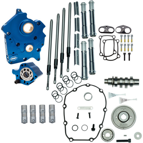 S&S Gear Drive Camchest Kit for Harley M8 Oil-Cooled - Chrome