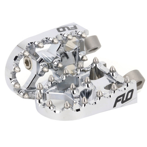 Flo Motorsports Moto Style Foot Pegs for Harley - Chrome