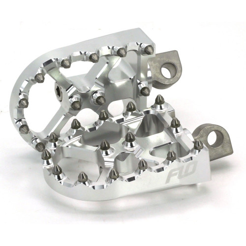 Flo Motorsports BMX Style Foot Pegs for Harley - Silver