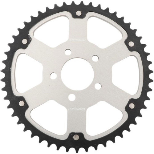 Supersprox Stealth Sprocket for 2000-2019 Harley* - Silver