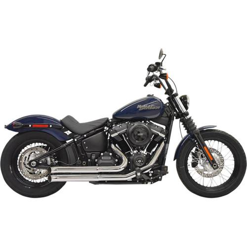 Bassani Slash Cut Pro-Street Exhaust System for 2018-2019 Harley Softail* - Chrome