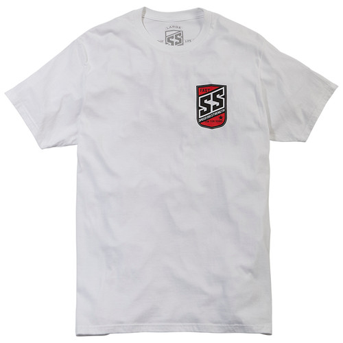 Speed and Strength Shield T-Shirt - White