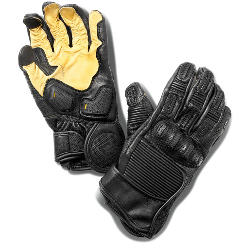 Roland Sands Punk Race Black Leather Gloves