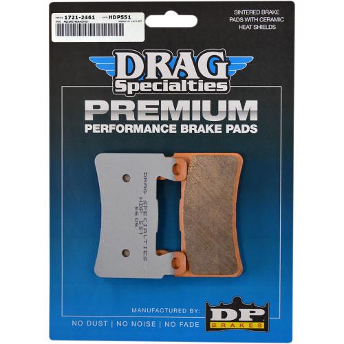 Drag Specialties Premium Sintered Metal Front Brake Pads for 2018-2019 Harley Softail - Repl. OEM #41300102