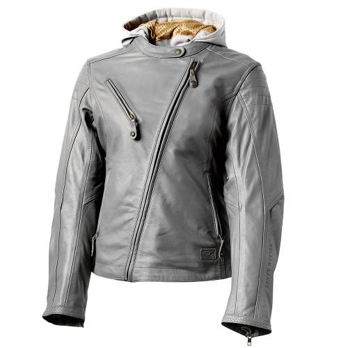 Roland Sands Women's Mia Leather Jacket - Grey
