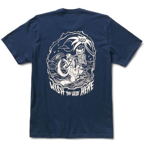 Roland Sands Beach Vibes T-Shirt - Navy Blue