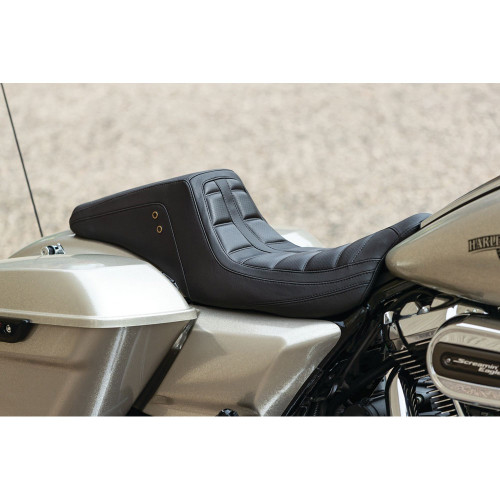 Mustang Squareback One-Piece Seat for 2008-2019 Harley Touring