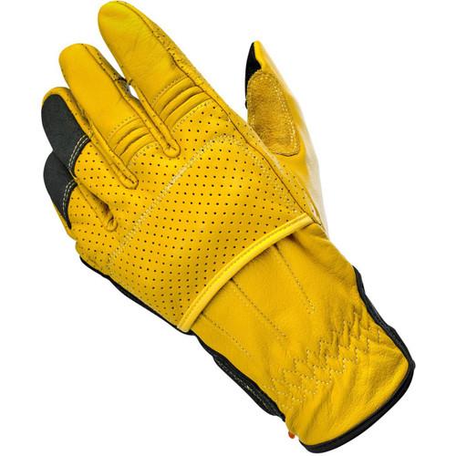 Biltwell Borrego CE Leather Gloves - Gold/Black