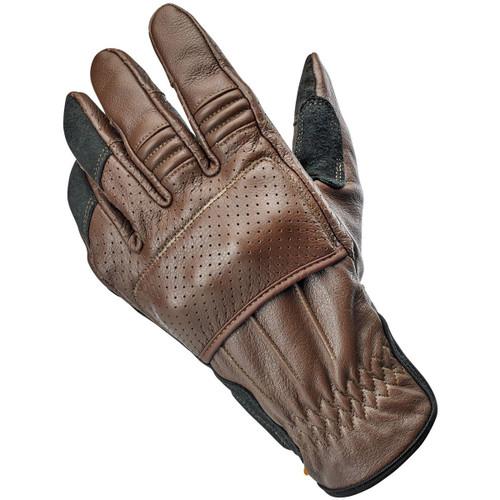 Biltwell Borrego CE Leather Gloves - Chocolate