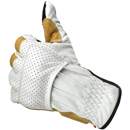 Biltwell Borrego CE Leather Gloves - Cement