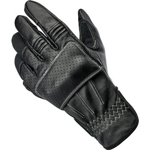 Biltwell Borrego CE Leather Gloves - Black/Cement