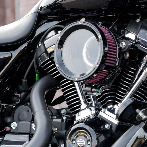 Trask Assault Charge High-Flow Air Cleaner for 2017-2020 Harley M8 - Gloss Black