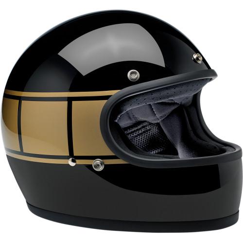 Biltwell Gringo ECE Helmet - Gloss Black Holeshot