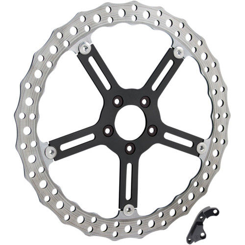 Arlen Ness Big Brake Jagged Floating Rotor Kit for 2006-2017 Harley Dyna and 2015-2017 Softail
