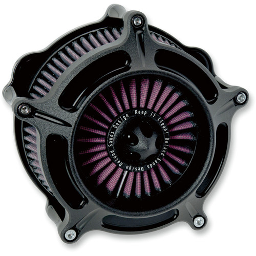 Roland Sands Turbine Air Cleaner for 1993-2017 Harley* - Black Ops